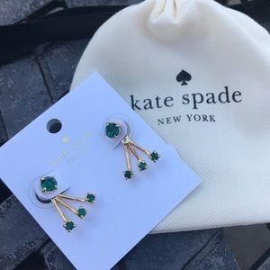 Kate Spade Emerald Crystal Ear Jacket Earrings